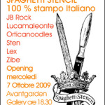 JB Rock / Lucamaleonte / Orticanoodles / Sten / Lex / Zibe: Spaghetti Stencil